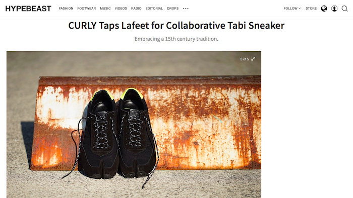 About SPLIT TABI TRAINER on HYPEBEAST U…