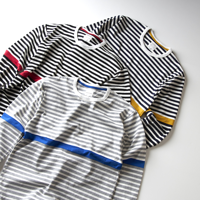 SWITCHING BORDER LONG SLEEVE TEE